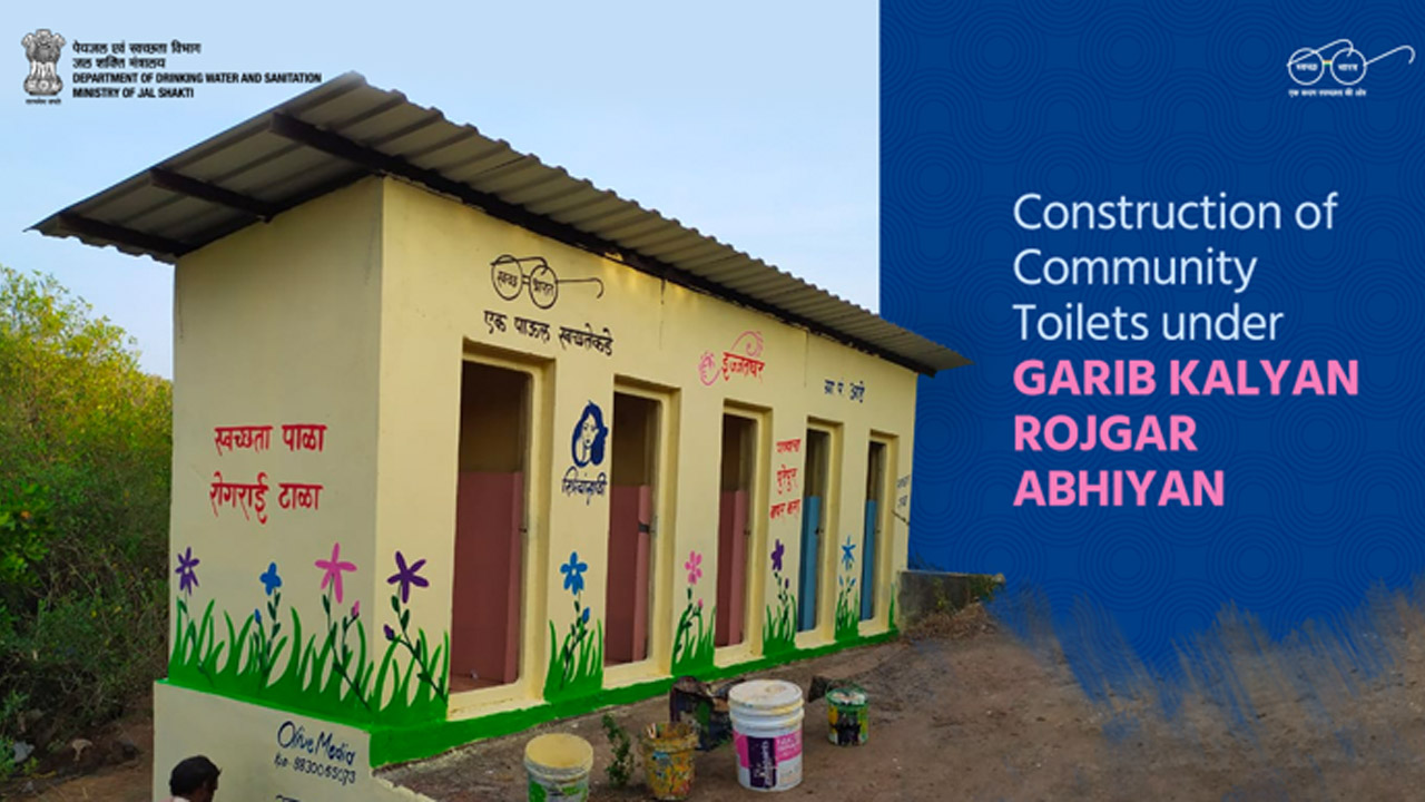 Migrant labourers build 8,083 community toilets in 77 days - Aiming to make the Swachh Bharat campaign successful, a total  of 8083 community toilets have been completed in just 77 days, said office of Union Minister Gajendra Singh Shekhawat.